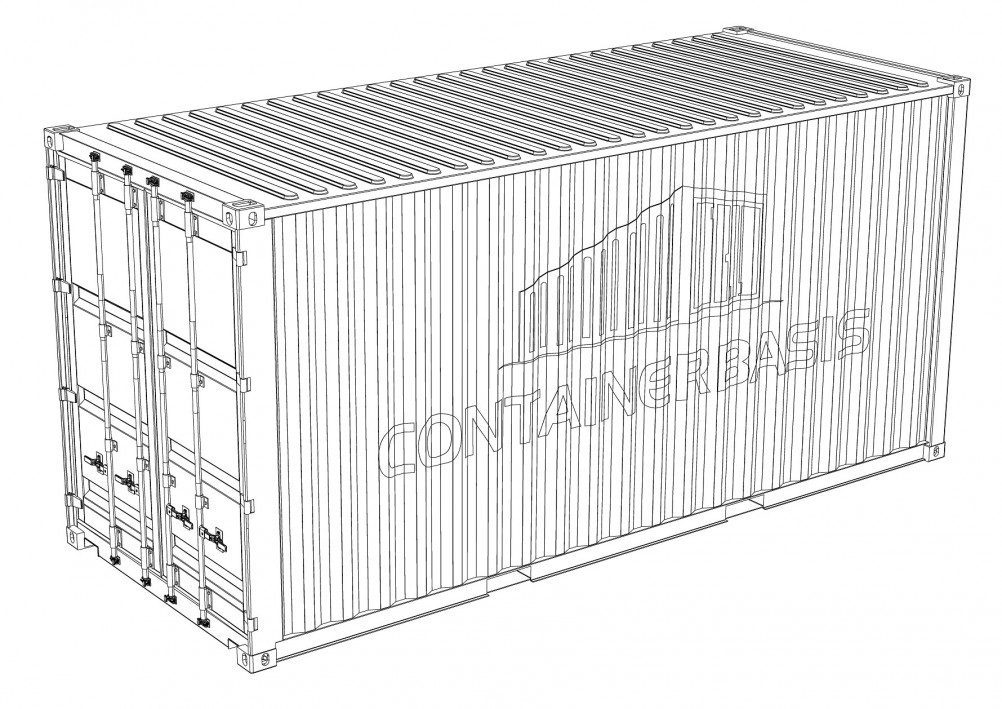 20 Fuß High Cube Container - weiß -