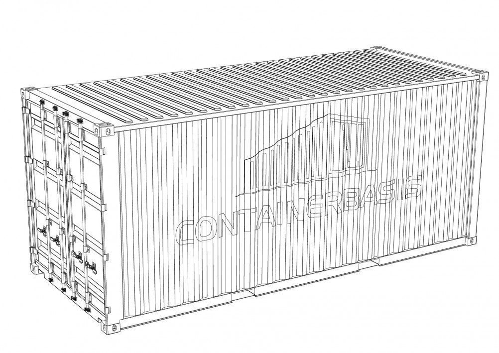 20 fuß container Dry Van containerbasis