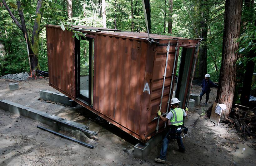 Shipping container home floorplans - Ein Containerhaus Mitten Im Wald Containerbasis De