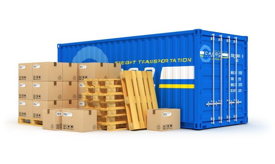 lagercontainer grafik blau