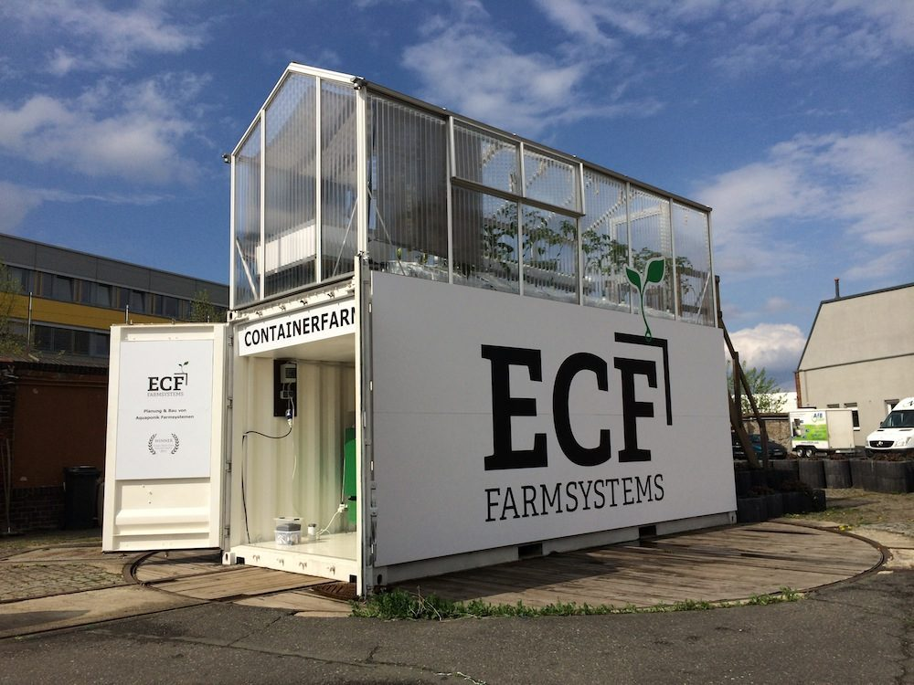 ecf containerfarm aquaponik im container. Black Bedroom Furniture Sets. Home Design Ideas