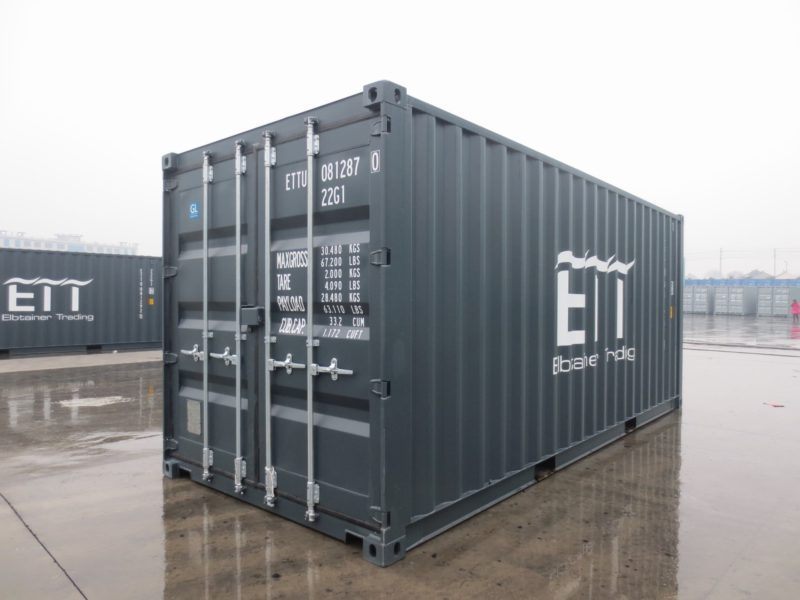 Neuer 20ft DV Container in grau