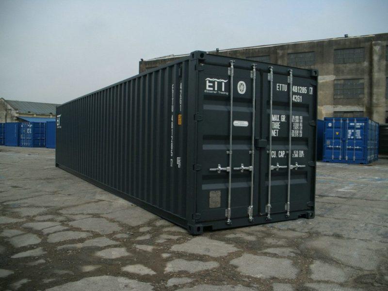 neuer 40 fu seecontainer grau. Black Bedroom Furniture Sets. Home Design Ideas