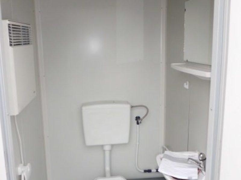 kleiner 5 fu wc container neu. Black Bedroom Furniture Sets. Home Design Ideas