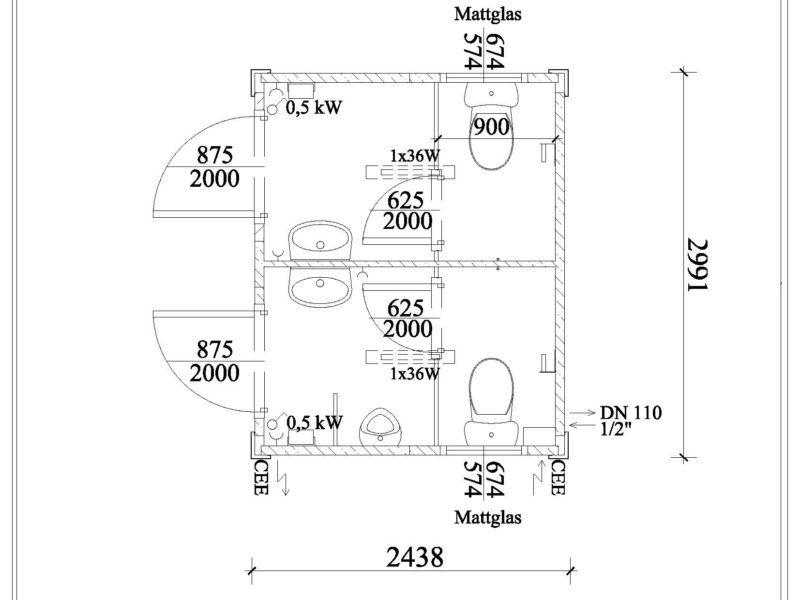 10 fu wc container damen herren neu. Black Bedroom Furniture Sets. Home Design Ideas