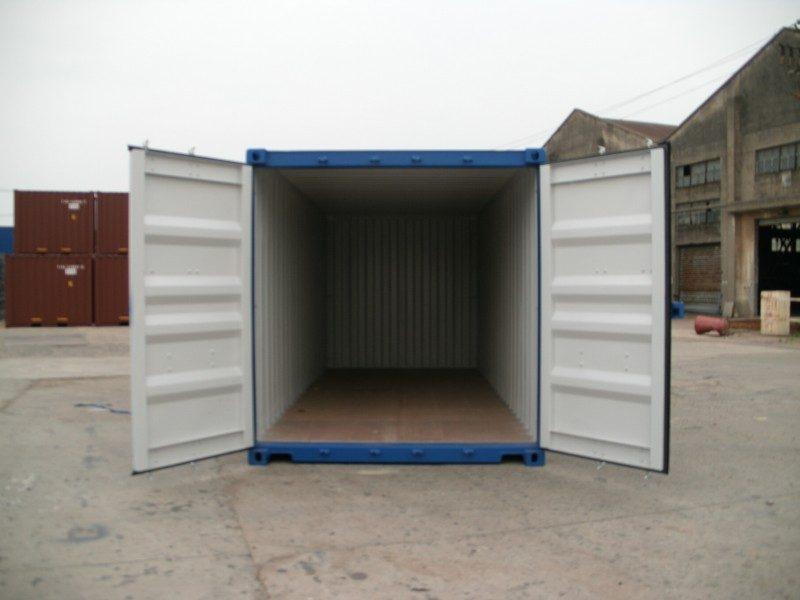 20 fu container neuwertig blau. Black Bedroom Furniture Sets. Home Design Ideas