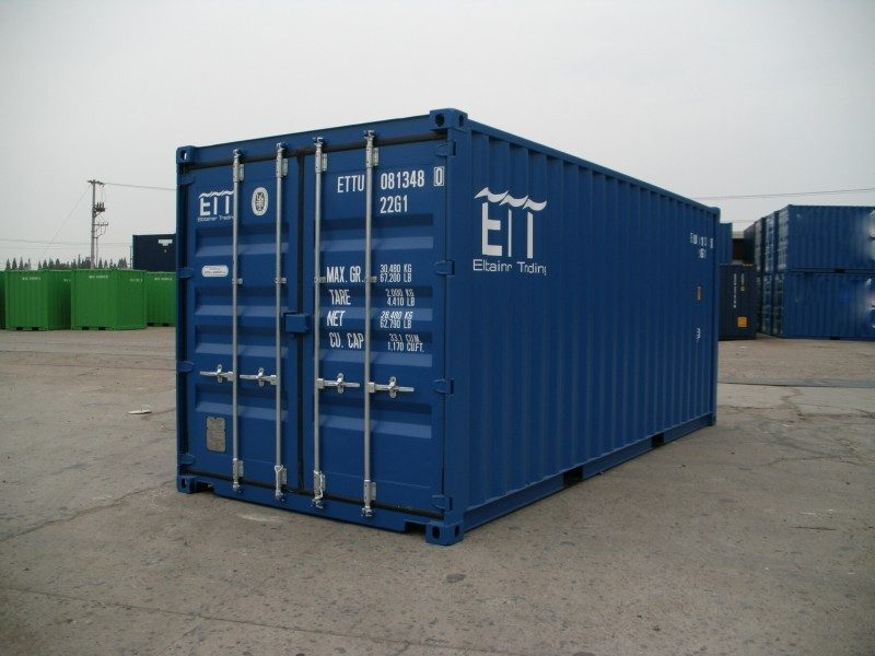 20 fu container neuwertig blau. Black Bedroom Furniture Sets. Home Design Ideas