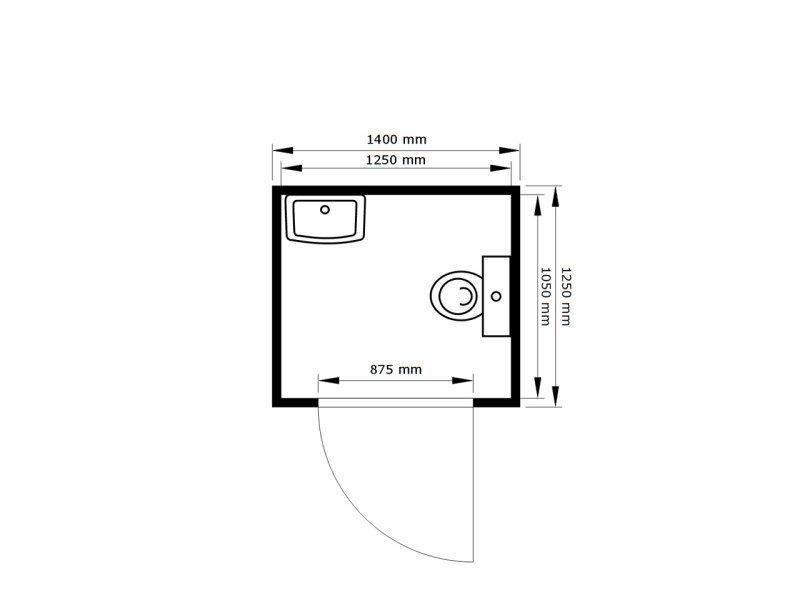 fladafi kleiner toilettencontainer tb 2701. Black Bedroom Furniture Sets. Home Design Ideas