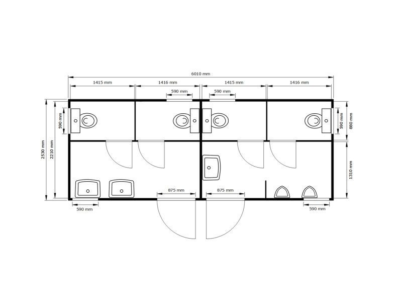 fladafi toilettenmodul 6 m d h. Black Bedroom Furniture Sets. Home Design Ideas