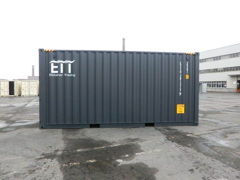 20 Fuß High Cube Container - grau -