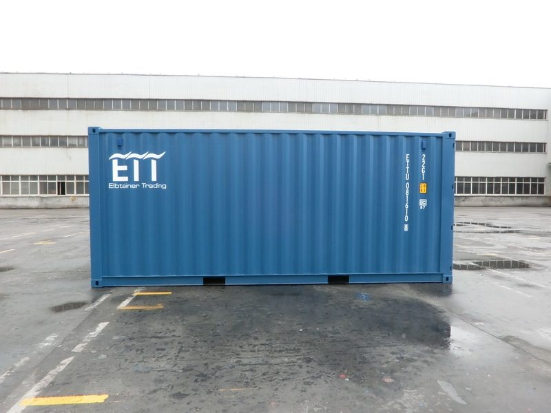 schiffscontainer gr e 20 fu container blau. Black Bedroom Furniture Sets. Home Design Ideas