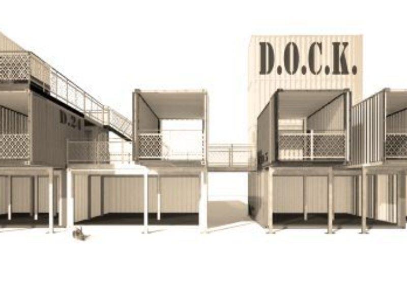 Containerarchitektur Für Events Steht Zum Verkauf