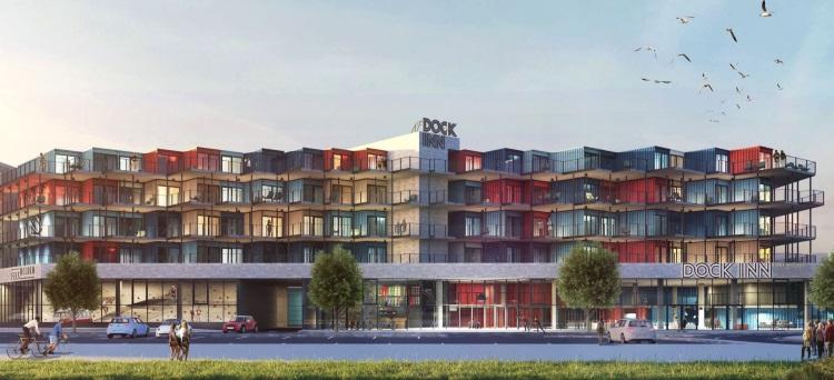 dock inn deutschlands erstes containerhotel. Black Bedroom Furniture Sets. Home Design Ideas