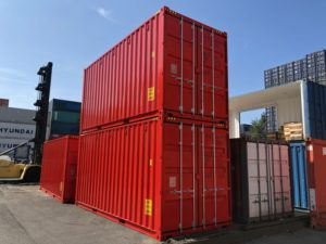 20 Fuß High Cube Container RAL3020 (rot)